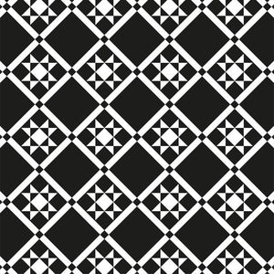 Aztec Tiles - White on Black
