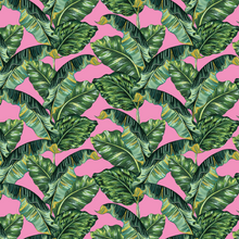 Load image into Gallery viewer, Banana Leaf & Pink - Floor & Wall