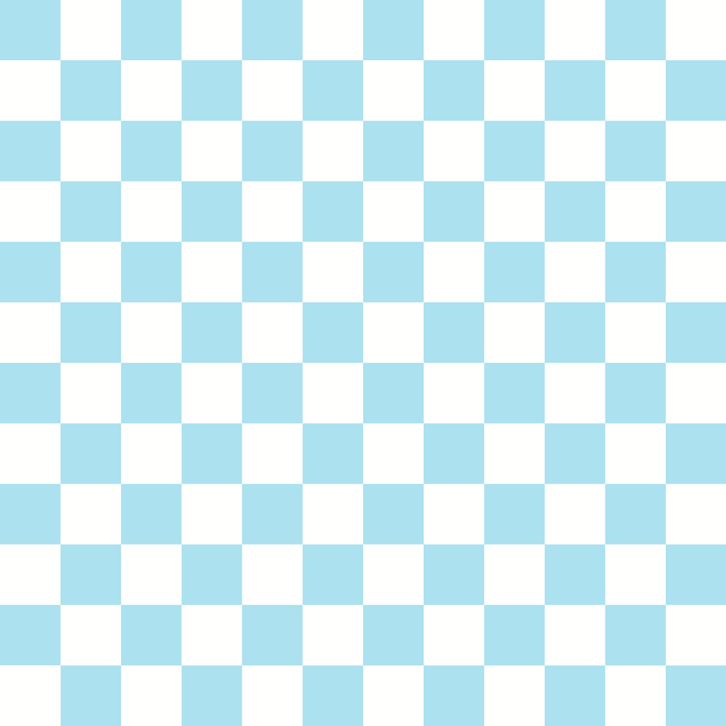 Checkered Design - Cyan (Small)