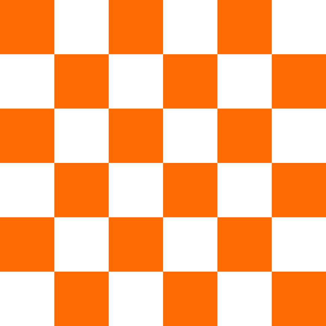 Checkered Design - Orange (Large)