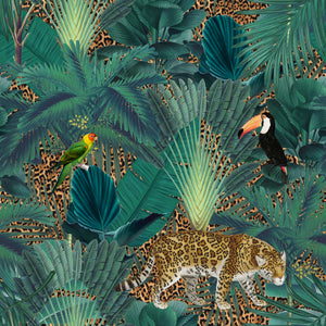 Jungle & Leopard Print - Floor & Wall