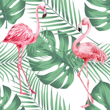 Load image into Gallery viewer, Flamingo & Leaves White