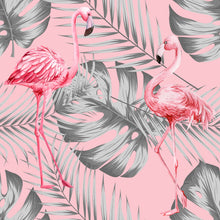 Load image into Gallery viewer, Flamingo & Leaves Grey