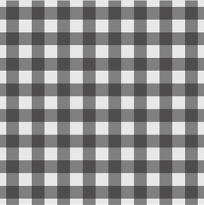 Gingham Design - Black