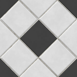 Harlequin Black & White Tiles - Floor & Wall