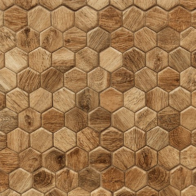 Hexagon Tiles Wood