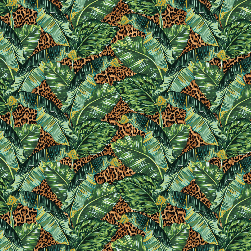 Banana Leaf & Leopard - Floor & Wall