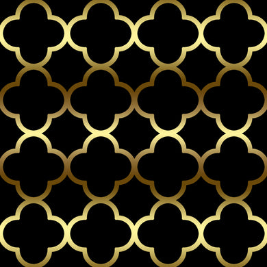 Quatrefoil Black & Gold