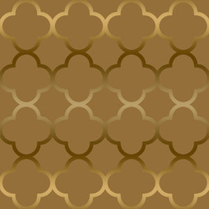Quatrefoil Gold - Floor & Wall