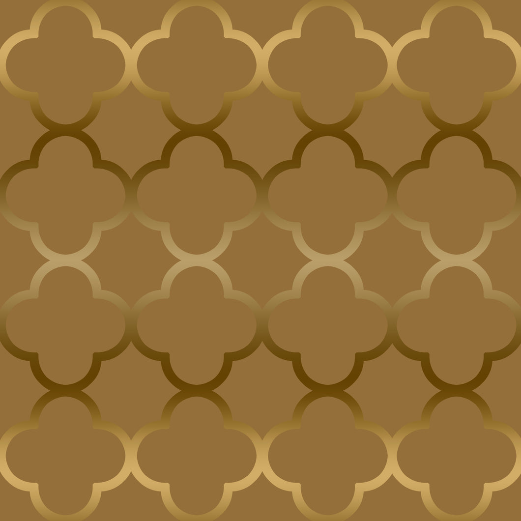 Quatrefoil Gold Sample
