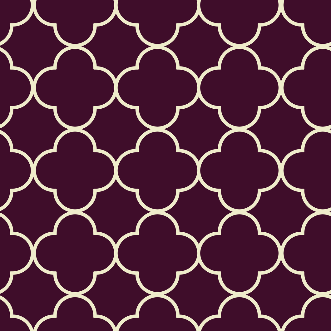 Quatrefoil Burgundy & Cream