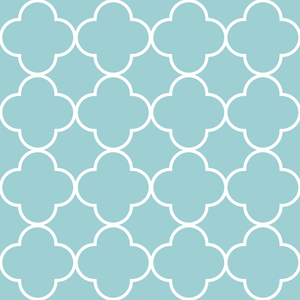 Quatrefoil Pale Blue & White Sample