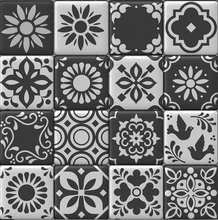 Load image into Gallery viewer, Moroccan Tiles Black