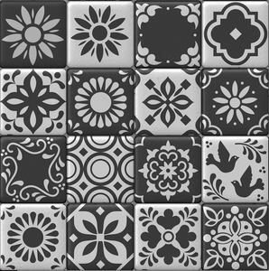 Moroccan Tiles Black Sample