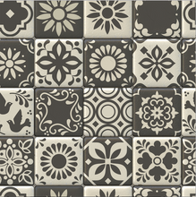 Load image into Gallery viewer, Moroccan Tiles Grey - Floor & Wall