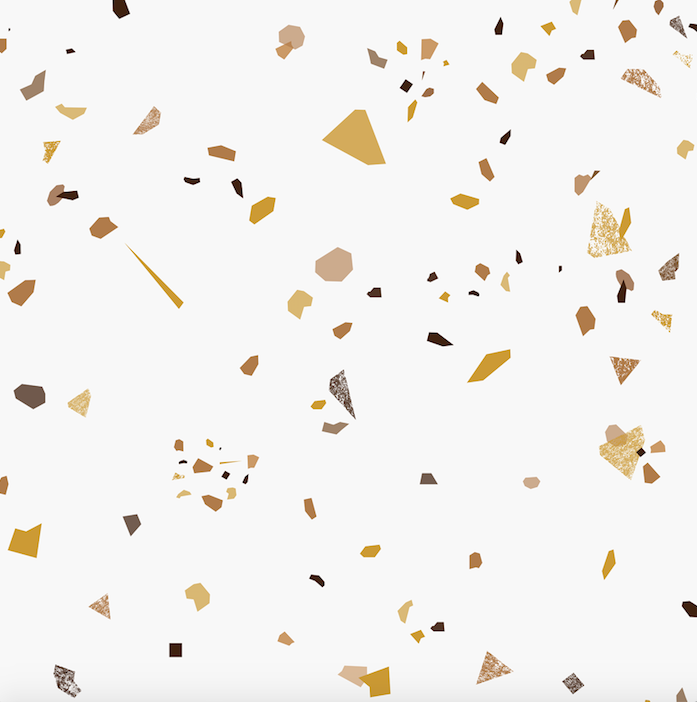 Terrazzo - Gold (1m Floor and Wall)