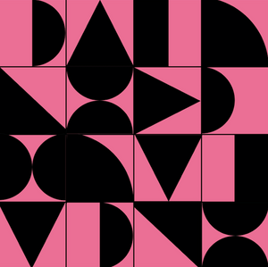 Abstract Geometric Black & Pink