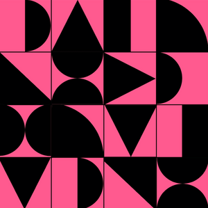 Abstract Geometric Black & Pink Sample