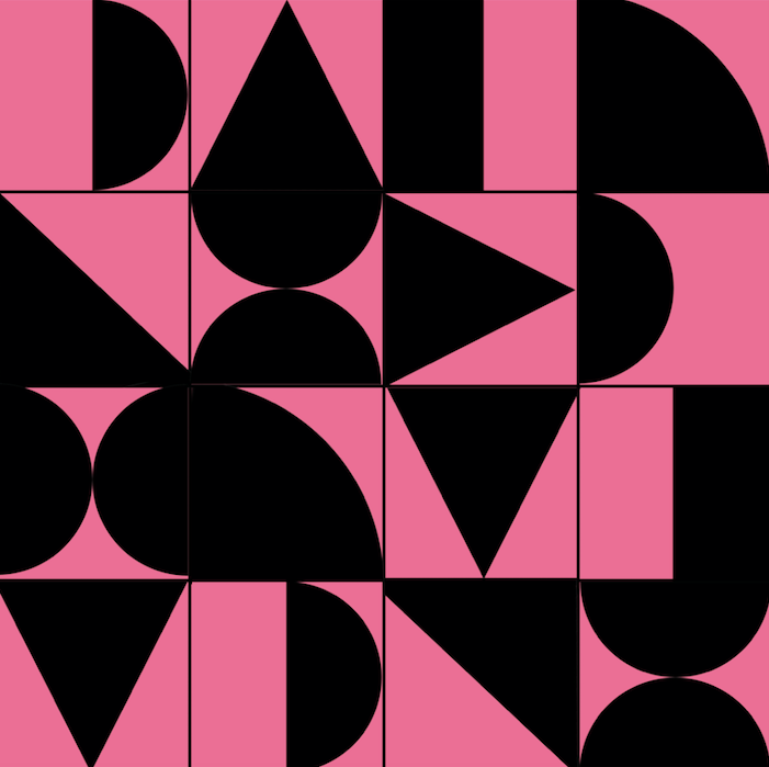 Abstract Geometric Black & Pink - Floor & Wall