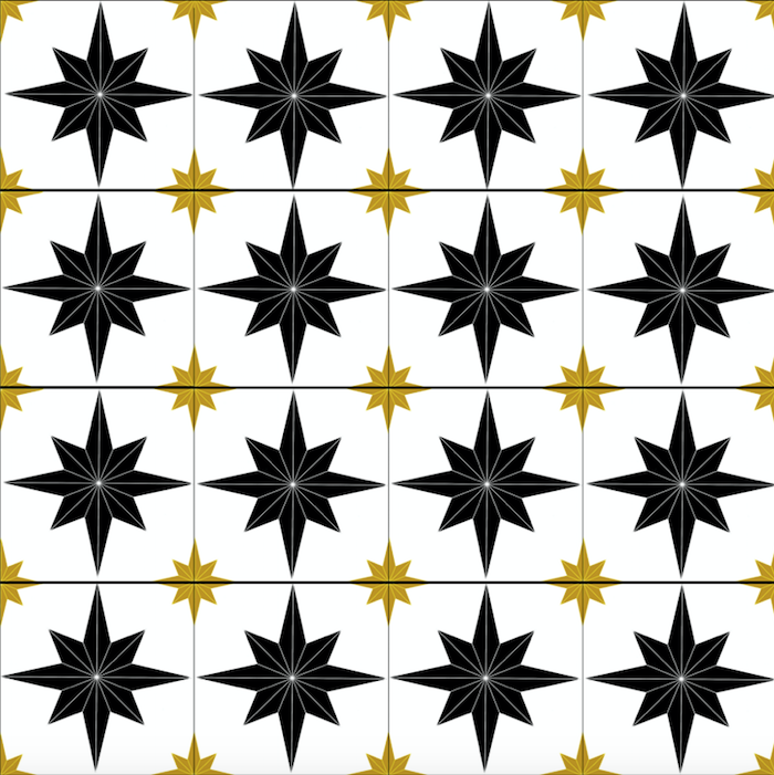 Astral Star Tiles Black & Gold - Floor & Wall