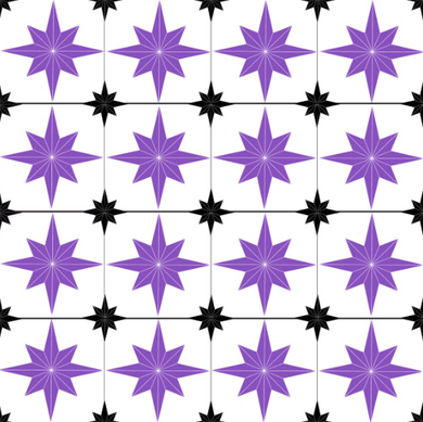 Astral Star Tiles Purple - Floor & Wall