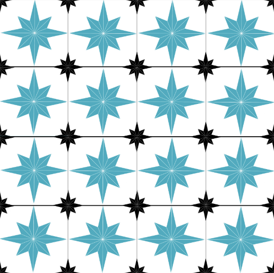 Astral Star Tiles Blue