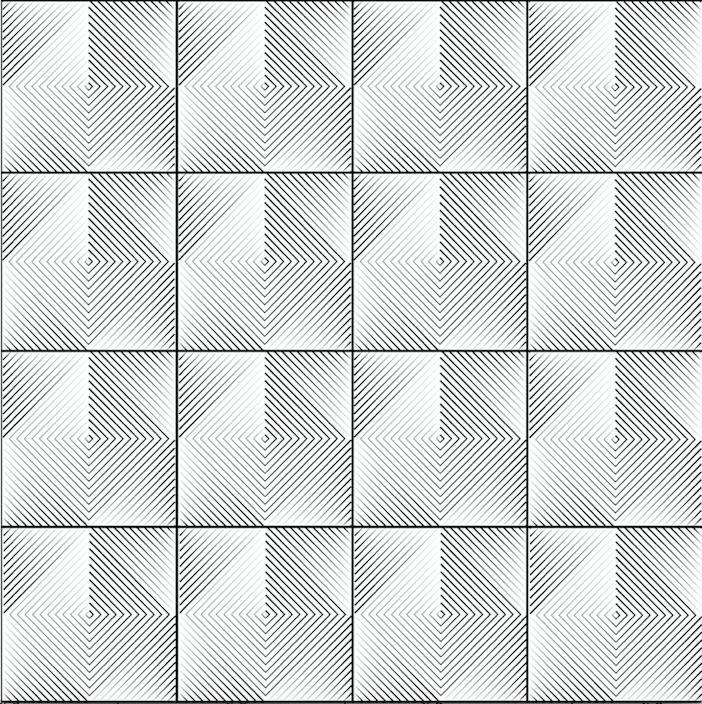 Optical Tiles White - Floor & Wall