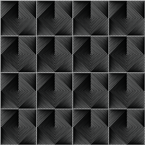 Optical Tiles Black - Floor