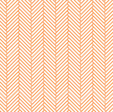Herringbone Subway Tiles Orange