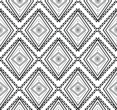 Tribal Black & White - Floor & Wall