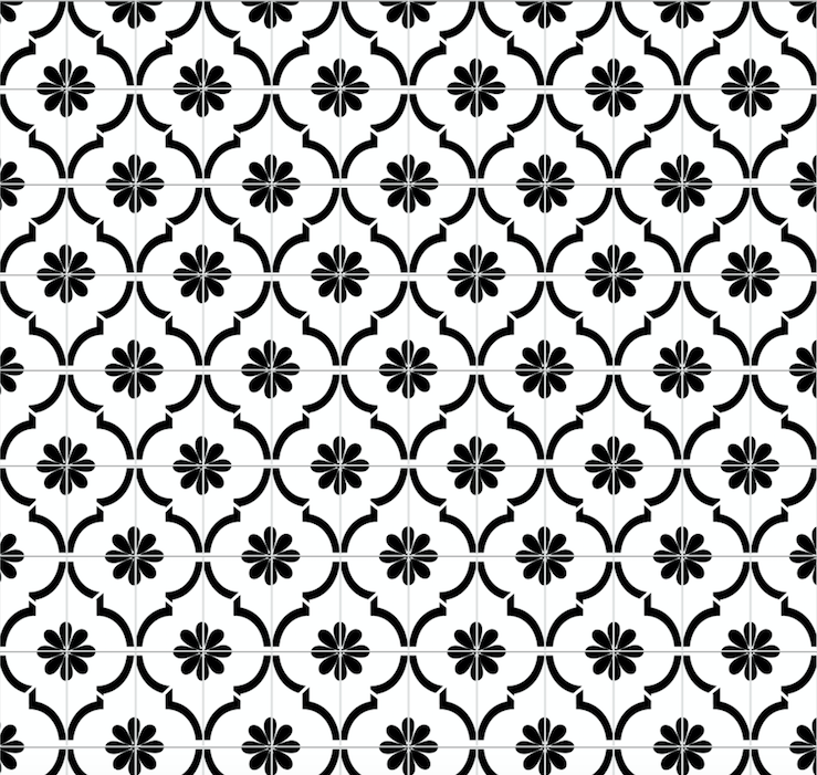 Moroccan Jannah Tile - White (1m Floor and Wall)