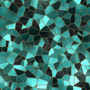 Stained Glass Teal - Floor & Wall
