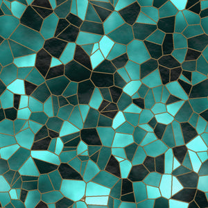 Stained Glass Teal Sample