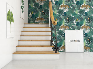 Jungle & White - Floor & Wall