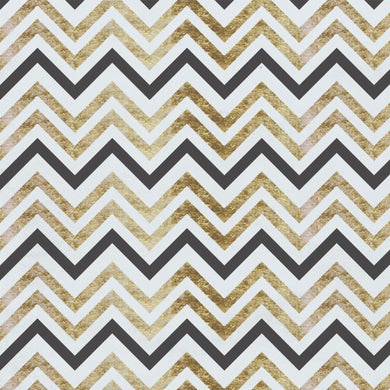 Chevron Black & Gold Floor & Wall