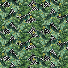 Load image into Gallery viewer, Banana Leaf & Zebra