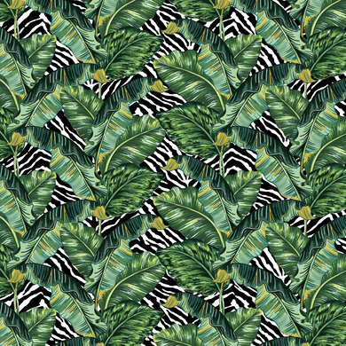 Banana Leaf & Zebra