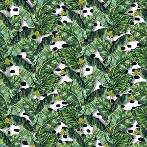 Banana Leaf & Dalmatian - Floor & Wall