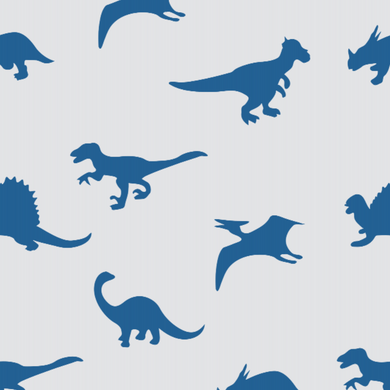 Dinosaur Blue & White
