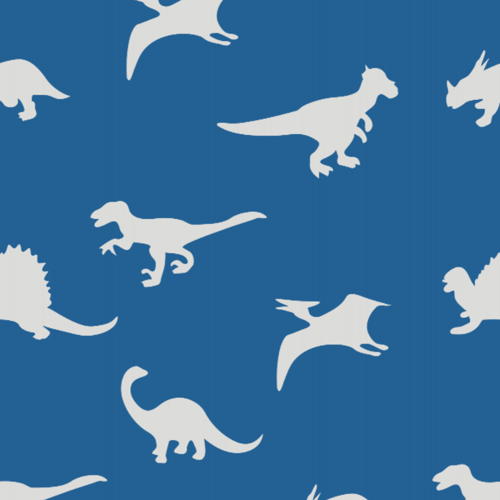 Dinosaur Blue - Floor & Wall