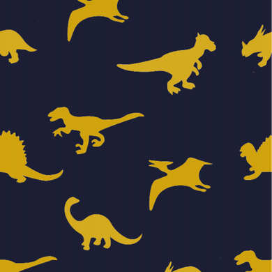 Dinosaur Blue & Yellow - Floor & Wall
