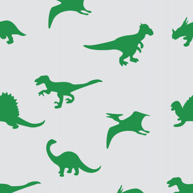 Dinosaur Green & White