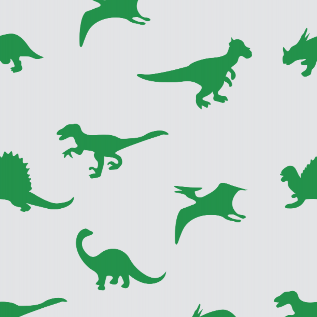 Dinosaur Green & White - Floor & Wall