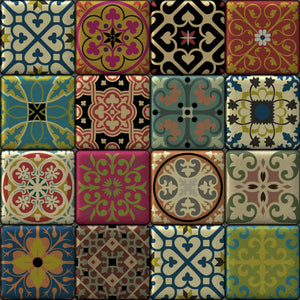 Moroccan Tiles Multi Colour - Floor & Wall