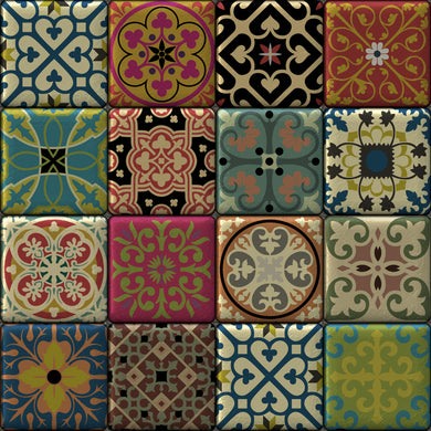 Moroccan Tiles Multi Colour
