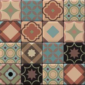 Moroccan Tiles Multi Colour 2