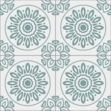 Load image into Gallery viewer, French Tiles Teal - Floor & Wall