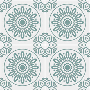 French Tiles Teal - Floor & Wall
