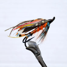 "Load image into Gallery viewer, ""Dirty Orange"" Double Hook, Salmon-fly 5/0"