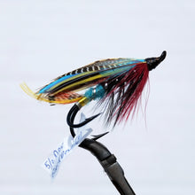 "Load image into Gallery viewer, ""Black Dose"" Double Hook, Salmon-fly 5/0"